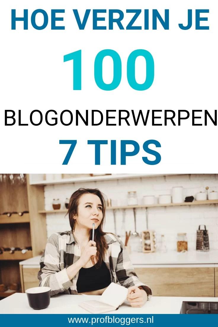 Hoe verzin je 100 blogonderwerpen in een uur?  - #Profbloggers #blogonderwerpen #schrijfonderwerpen