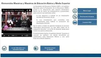 Lanza INEE micrositio informativo sobre la evaluación docente.