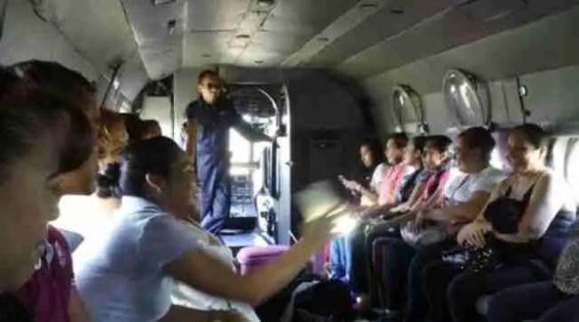 policia traslada maestros helicopteros