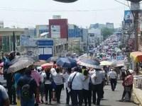 Multitudinaria marcha de la CNTE en Tabasco; SETAB la minimiza