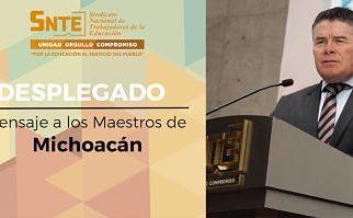 """Pide SNTE a maestros michoacanos que se evalúen; garantiza """"respeto a sus derechos y dignidad profesional""""."""