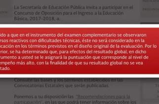 """Evaluación de ingreso tuvo """"diversos reactivos con dificultades técnicas"""": SEP"""