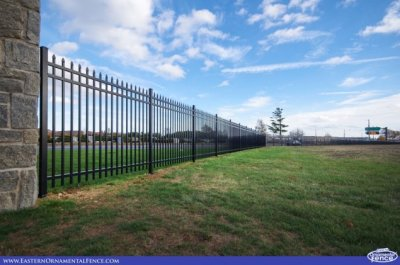 Eastern Aluminum Fence Style EO4101 four foot tall, three rail fence with an 'open top'.
