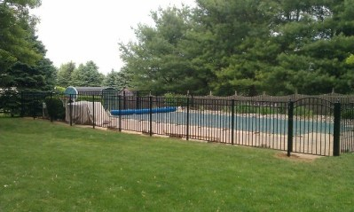 54 inch Starling by OnGuard is far and away our best selling pool fence. We stock it in black but it's available by special order in any of the OnGuard colors. We also offer a large selection of gate widths in both straight and arched top.