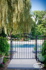 Eastern Ornamental Aluminum Style EO54200 Accent Gate shown with a MagnaLatch