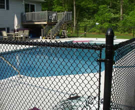 BOCA Pool code code compliant chain link fence with 1-1/4 inch diamonds is available in several heights, all colors and either 9 or 11 gauge. If we don't have what you want - we'll get it for you! For more information about BOCA, look under 'Resources' on the navigation bar.