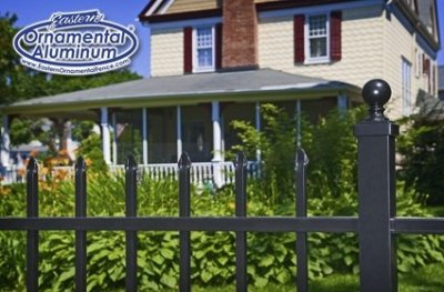Eastern Ornamental Aluminum Style EO4101 four foot tall shown with ball cap on the standard 2x2 post