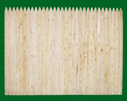 Stockade fence panesl are available in Cedar OR spruce.