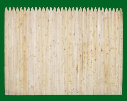 Stockade fence panesl are available in Cedar OR spruce.