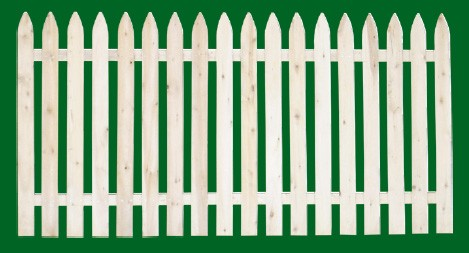 Eastern White Cedar Picket Fence panel with a number 3 shaped picket