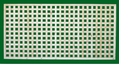Eastern White Cedar Lattice Panel with square Lattice