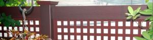 Grand Illusions WoodBond vinyl wood grain fence finish