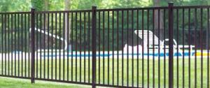 Eastern Ornamental Aluminum Pool Fence EO40V two rail 48 inch panel