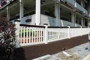 Grand Illusions Vinyl Railing is available in every Grand Illusions color and wood grain finish