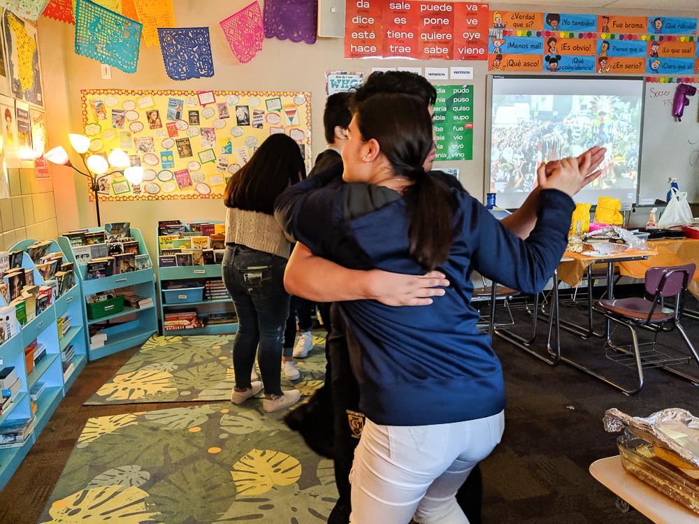 dancing in heritage Spanish class