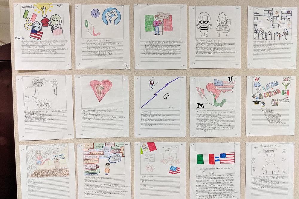 la sociedad y yo poems on the wall