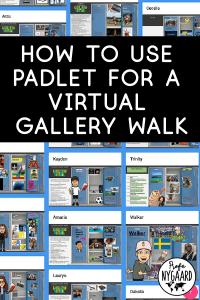 Padlet virtual gallery walk