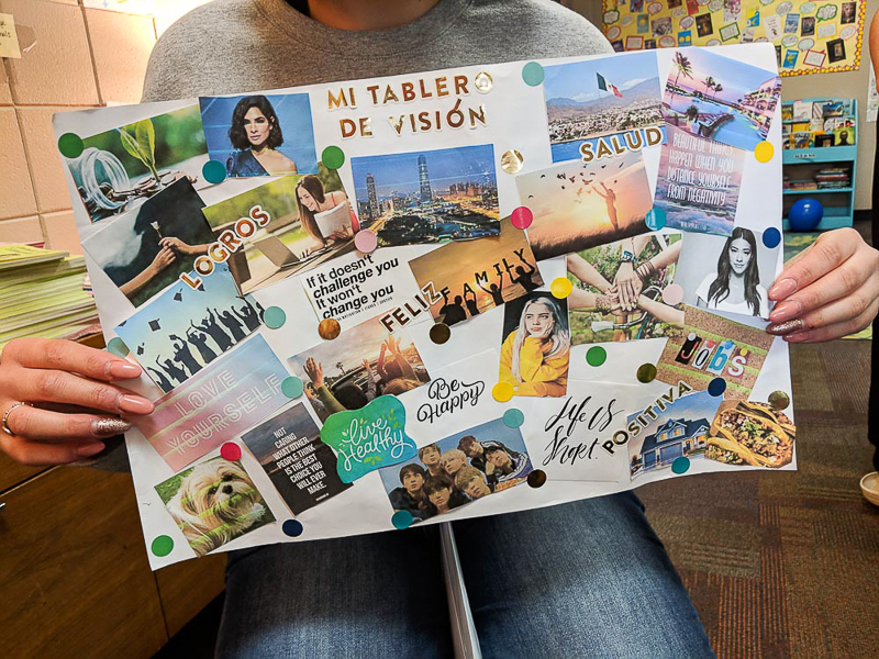 vision boards for heritage spanish class