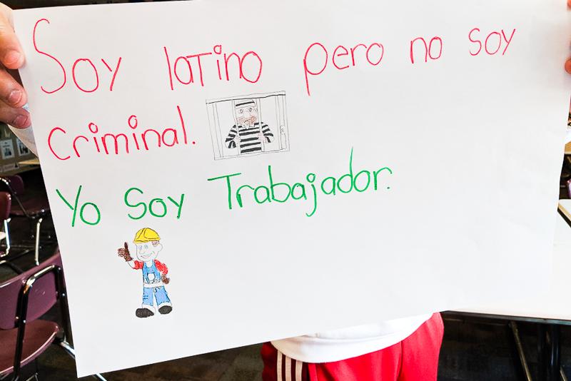 Soy latino pero no soy criminal. Yo soy trabajador.