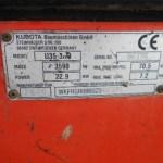 Miniexcavadora Kubota U35-3a3 83