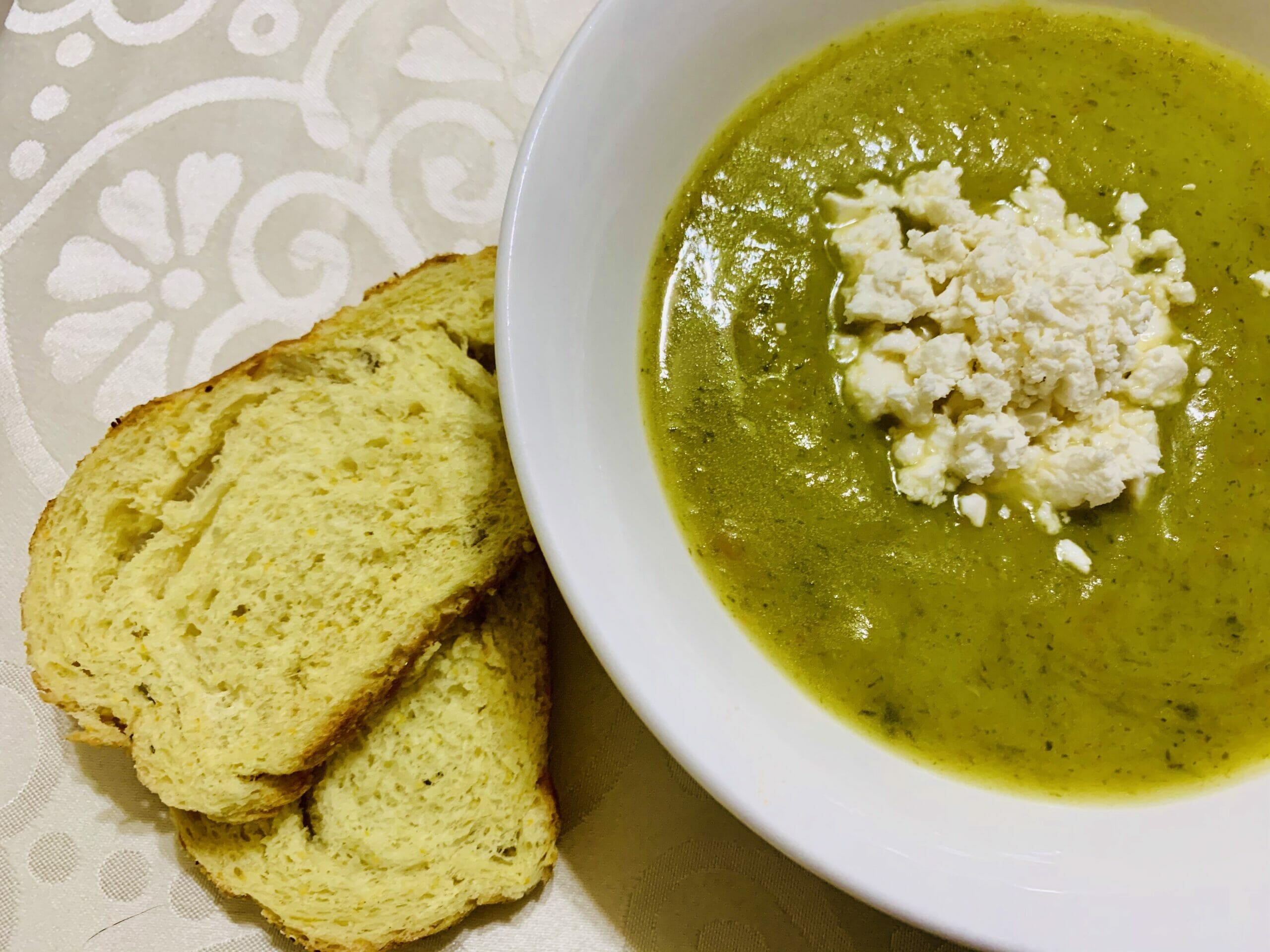 Спаначена крем супа с картофи