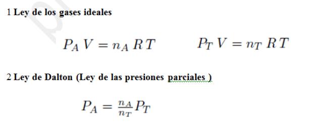 Equilibrio químico presiones parciales