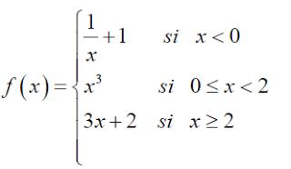 derivabilidad de una funcion a trozos