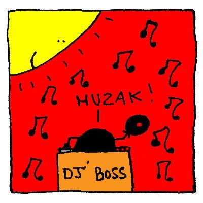 Jean-Jacques fait le DJ lors de la soirée Muzak.