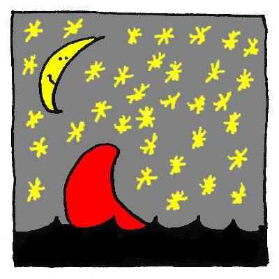 Le Bato coule dans la nuit.