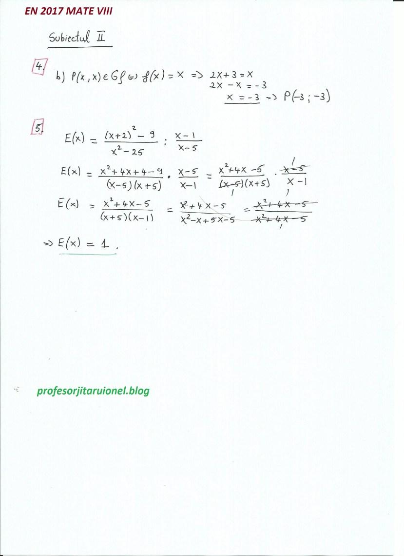 Subiectul II (4-5)