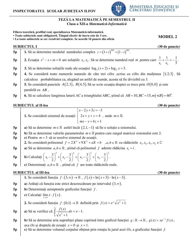 Subiect Mate-Info sem II -1