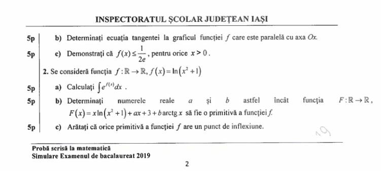 Barem Simulare Romana 2019 Detail: Subiecte Matematică și Lb. Română -simulare BAC -Iași