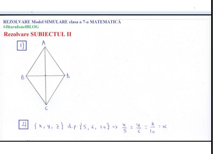 Simulare Clasa A 8 A 2019 Matematica: REZOLVARE Model Simulare 2019 -clasa A 7-a -matematica (EN