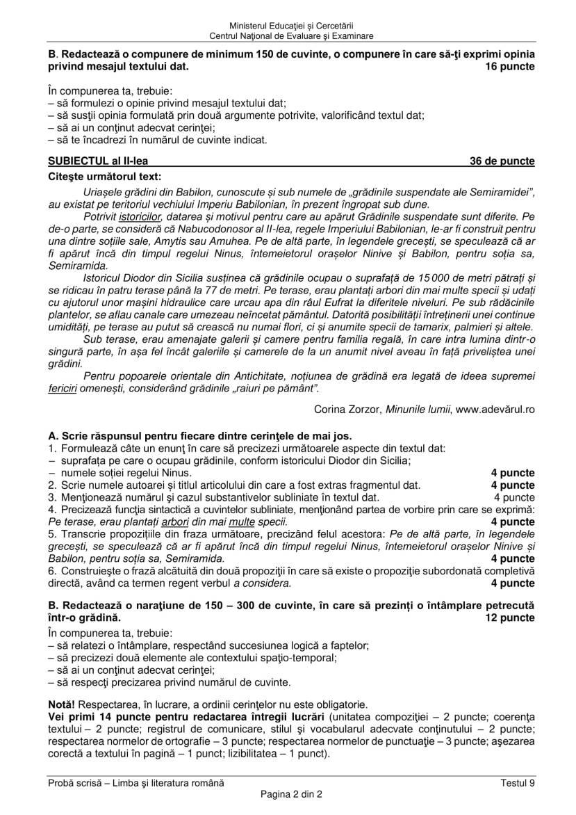 EN_VIII_Limba_romana_2020_Testul_09-2