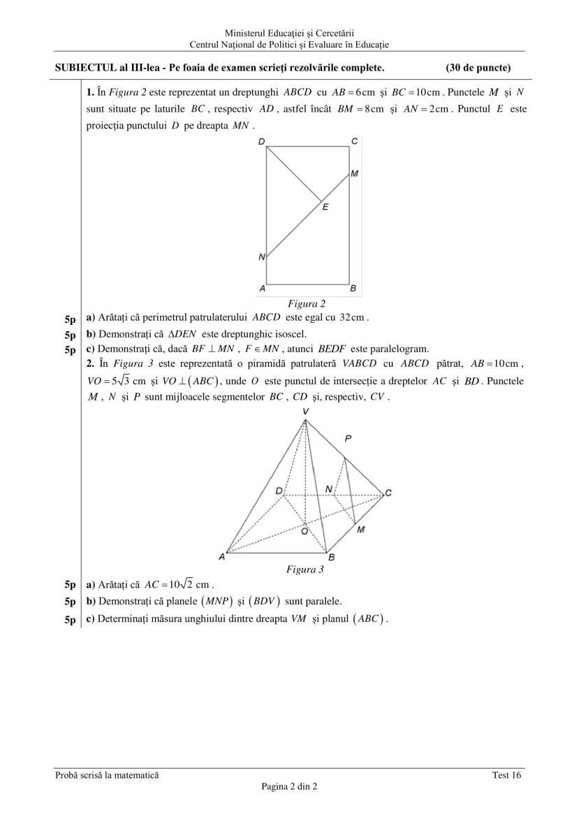 ENVIII_matematica_2020_Test 16-2
