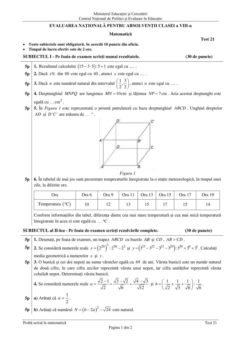 ENVIII_matematica_2020_Test_21-1