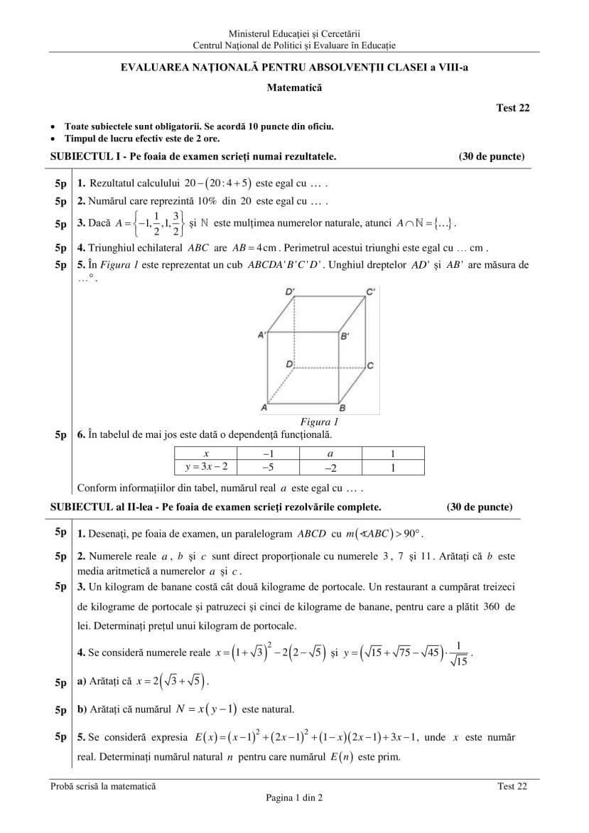 ENVIII_matematica_2020_Test_22-1
