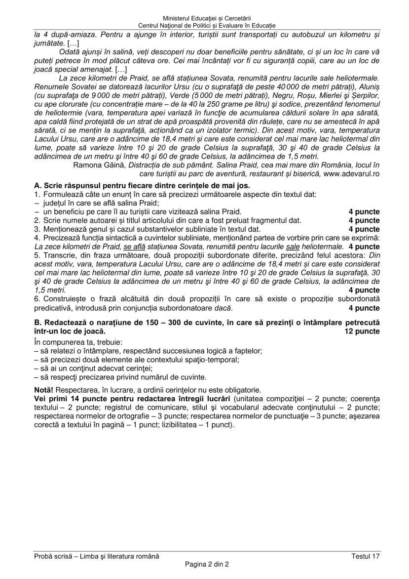 EN_VIII_Limba_romana_2020_Testul_17-2