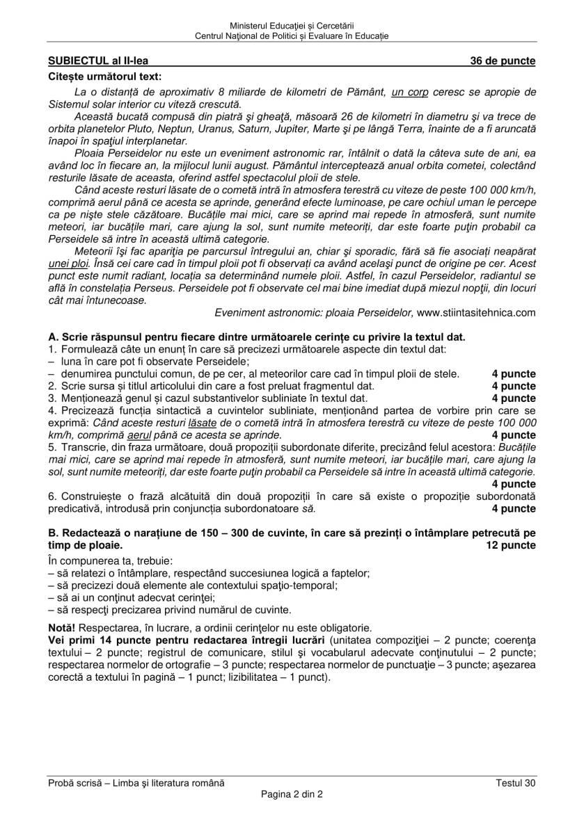 EN_VIII_Limba_romana_2020_Testul_30-2