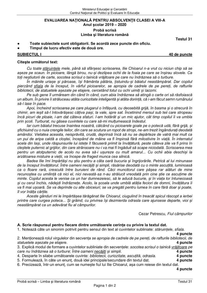 EN_VIII_Limba_romana_2020_Testul_31-1