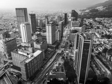 Panorámica del centro internacional de Bogotá, Colombia