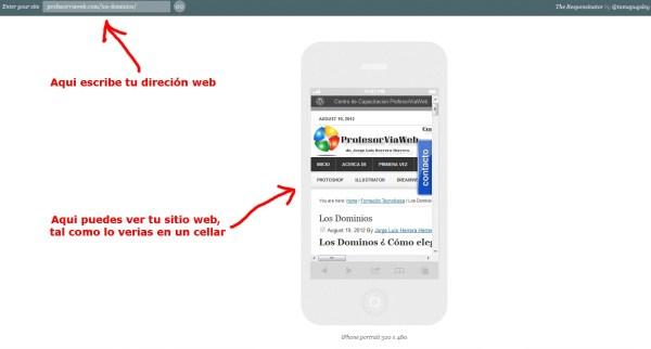 web para celulares