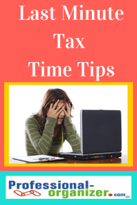 last minute tax preparation