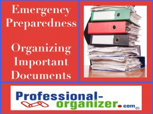 emergency preparedness organizing your papers