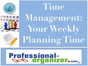 time management weekly planning time