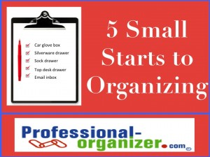 getting started organizing with 5 small spots
