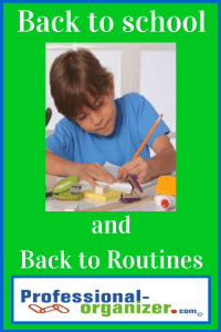 back to school and back to routines