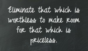 organizing that which is priceless