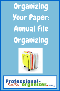 annual file and paper organizing