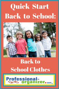 back to school organizing clothes